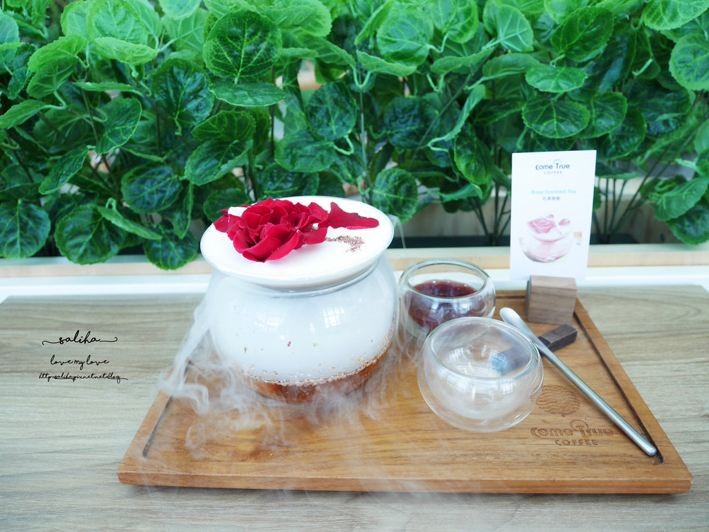 台北東區景觀餐廳推薦成真咖啡超夢幻玫瑰咖啡ig打卡必拍美食下午茶 (1)