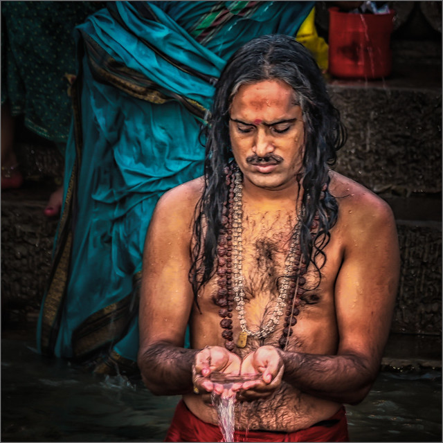 Morning rituals at the Ganges river #8