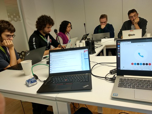 People attending the CSS Working Group confcall during the hackfest | by webhackfest