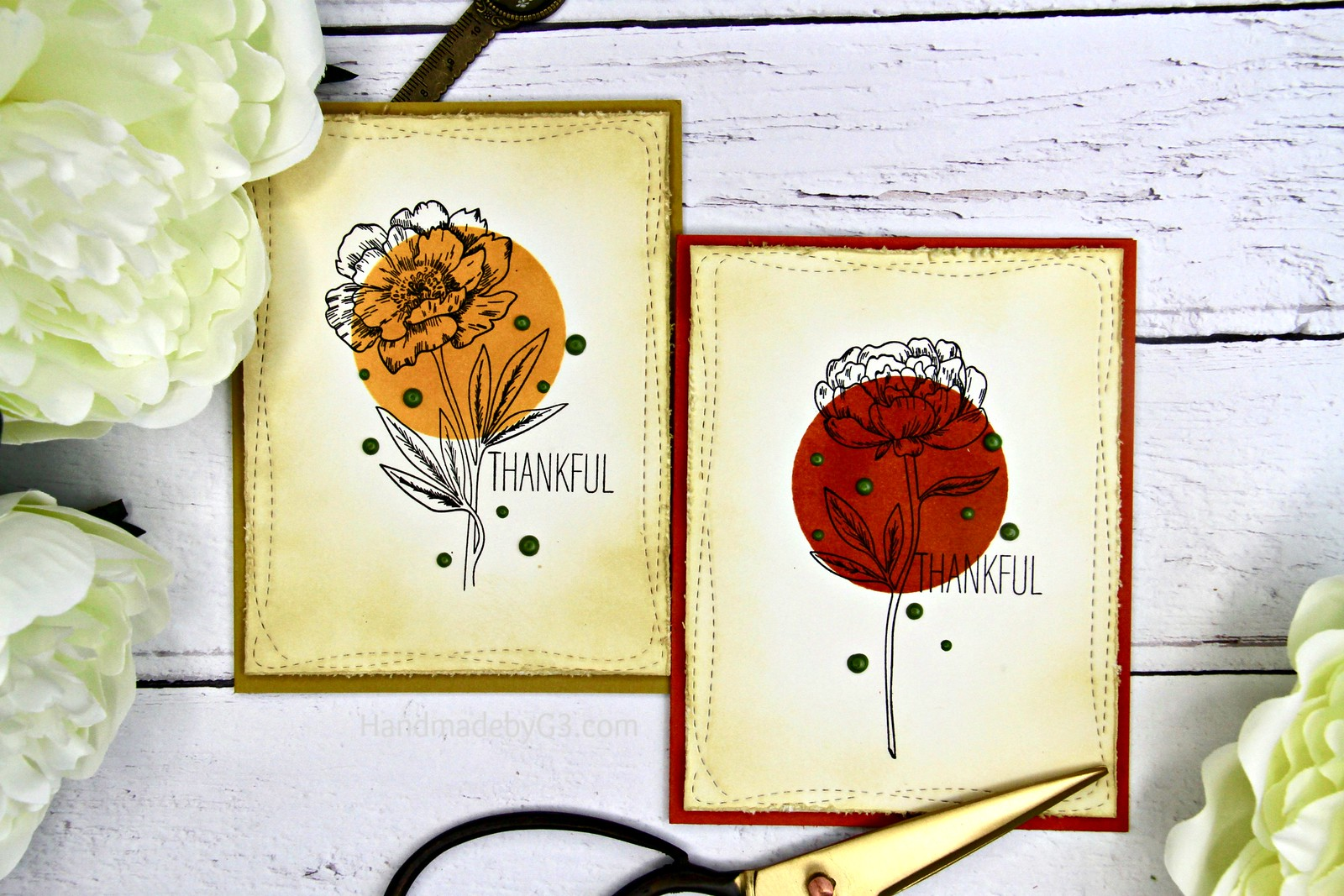 Thankful card set