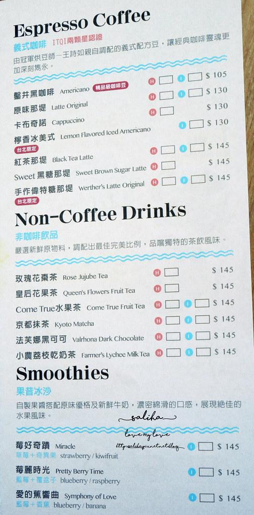 台北大安區東區成真咖啡Come True Coffeesogo復興店菜單價位訂位menu (3)