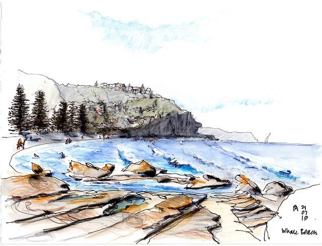 Rock pool Whale Beach