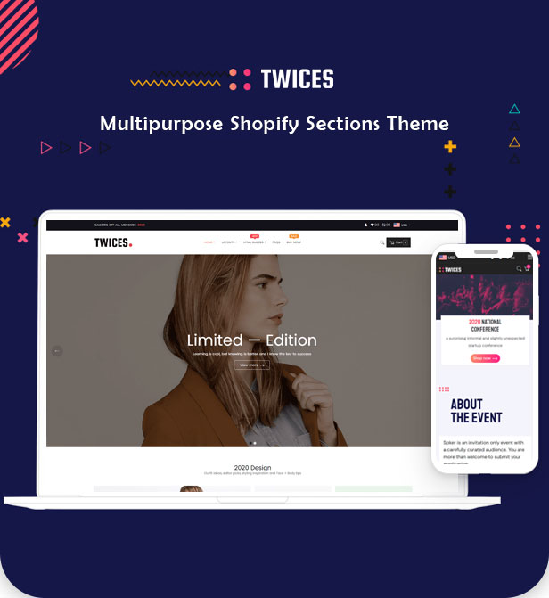 Ap Twices – All-in-one Ecommerce Shopify Theme | Free version available