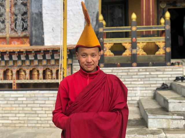 Monje budista en Bumthang (Bután)