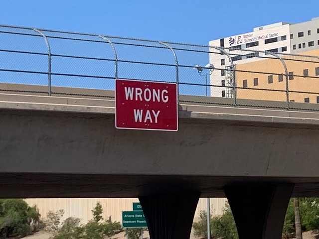 Wrong Way Signs (October 2019)