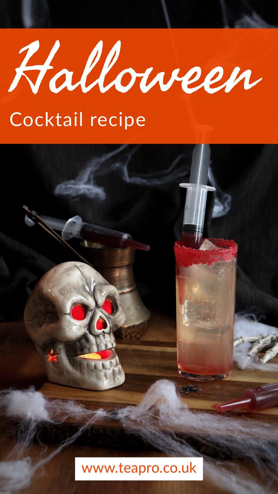 teapro spooky Halloween cocktail recipe