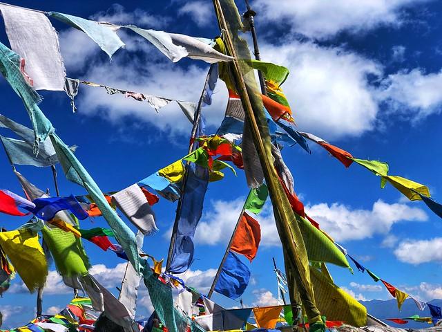 Banderas de oración en Bután