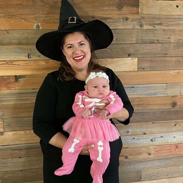 Happy Halloween! 💀Excited to hand out candy with this cutie tonight! The holidays are so much more special this year. ⠀ ⠀ #halloween2019 #babiesfirsthalloween #halloween #skeleton #witch #halloweencostume #babycostume #costume #baby #cutehalloweenco