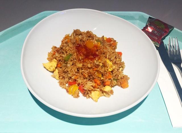 Fried egg rice / Gebratener Eierreis