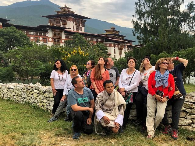 Grupo de viaje de autor en Bután