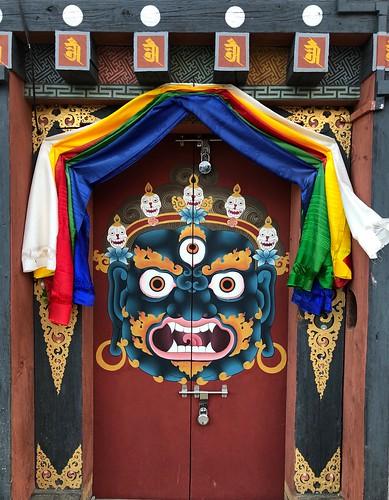 Puerta en Bután