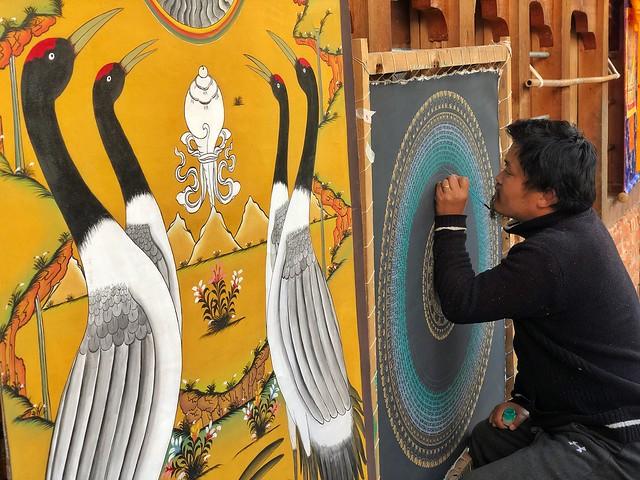 Artista en Bután