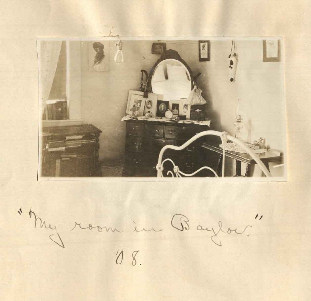 Mary McCaulay Maxwell's Rooom at Baylor, 1908