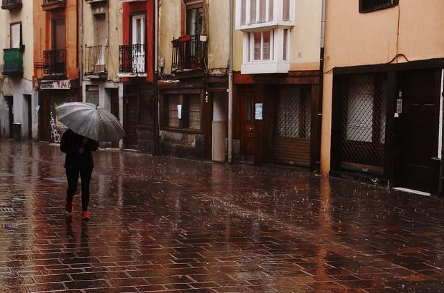 Rainy weather in Vitoria-Gasteiz