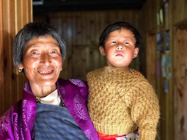 Gente local en Bután