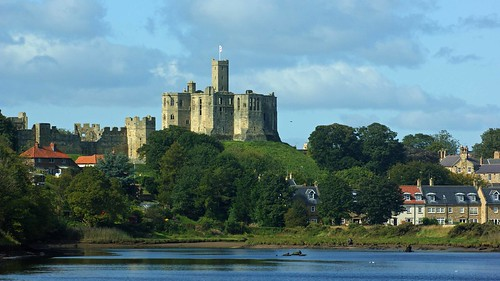Warkworth castle and the river