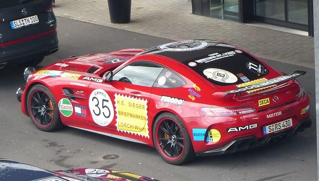 Mercedes Benz SRS red hlo