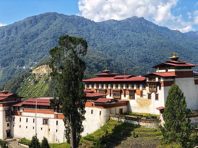 Dzong de Trongsa en Bután