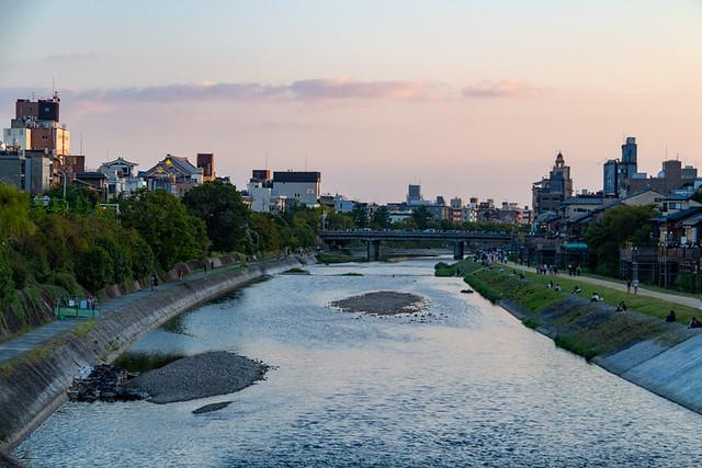Kamo River from Sanjo-dori Bridge
