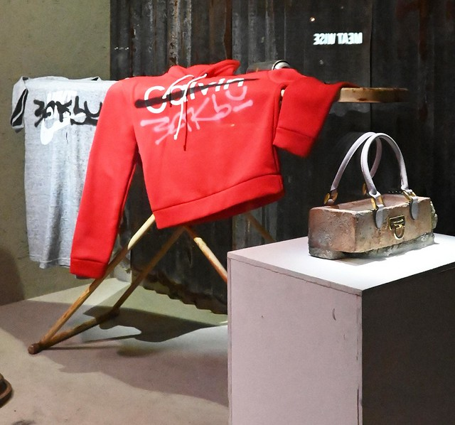 Banksy Tagged Tee, Clutch Bag in foregroundtn_DSC_6056 copy
