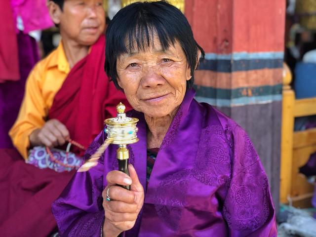 Mujer de Bután
