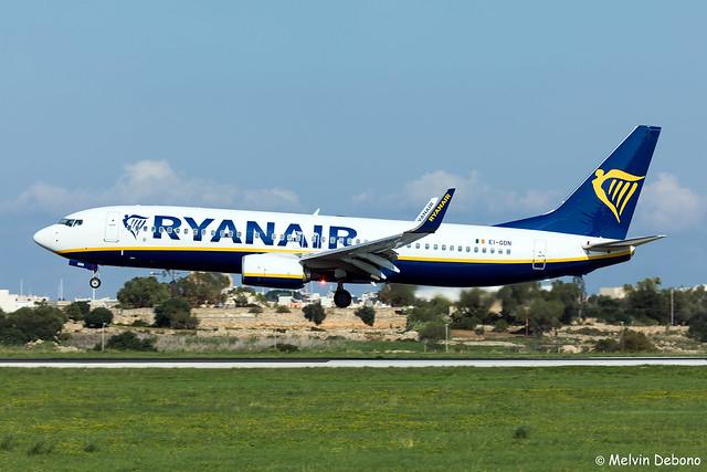Ryanair Boeing 737-8AS  |  EI-GDN  |  LMML