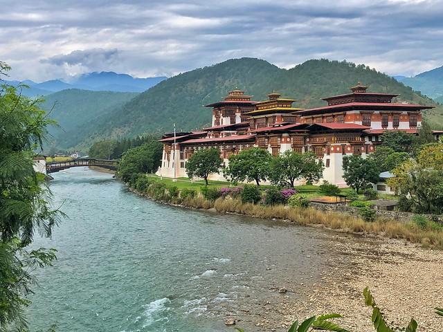 Dzong de Punakha en Bután