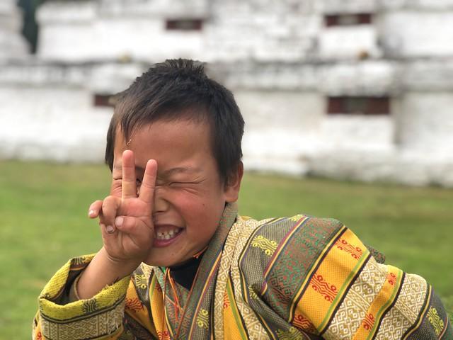 Niño de Bután sonriendo