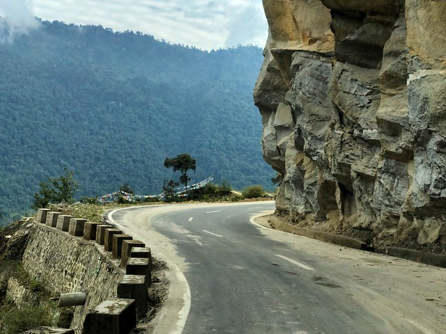 Carretera en Bután