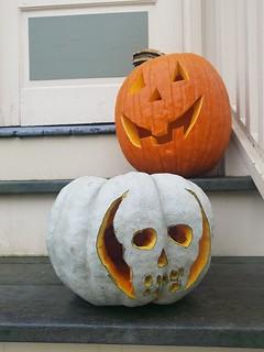 10-31-2019: Jack and Skull O'Lantern. Arlington, MA