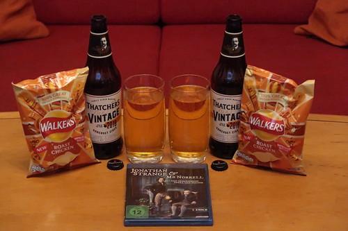 Thatcher's Vintage Cider und Walkers Roast Chicken Crisps zur fünften Folge der Mini-Serie