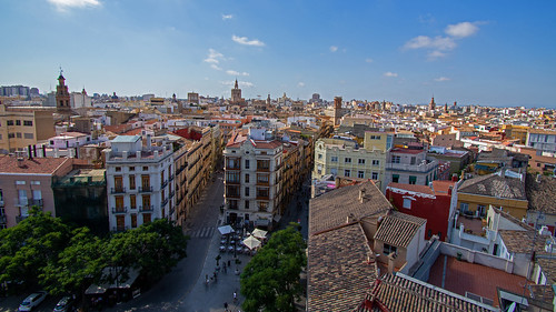 Valencia Old Town Cityscape | by goatsgreetings