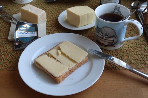 Lancashire auf Toast