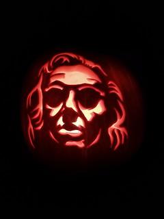 Good Omens pumpkin.