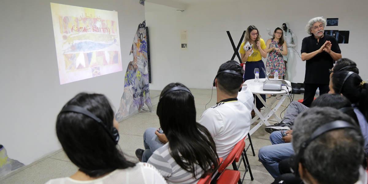Artista tunecino ofrece conversatorio sobre su proceso creativo en Iartes fotos medios