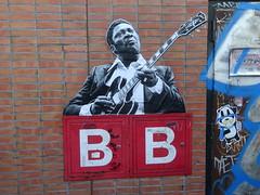 B. B. King op Waterlooplein Amsterdam