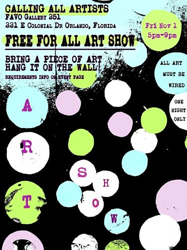 """Free for ALL Art Show"" at FAVO – One Night Only"
