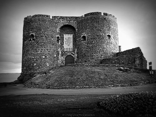 carrickfergus carrickferguscastle countyantrim northernireland castle fort stronghold building medieval historicmonument stone blackandwhite bw art artwork elitegalleryaoi bestcapturesaoi aoi