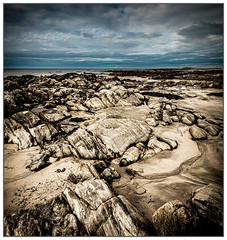 Monochrome Textures, Polachar Beach, South Uist