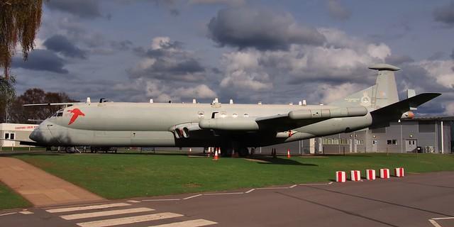 RAF Hawker Siddeley Nimrod R1 maritime patrol aircraft - RAF Museum, Cosford, Shropshire, England.