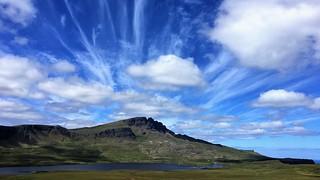 Fairy clouds near Loch Leathan, Cullins