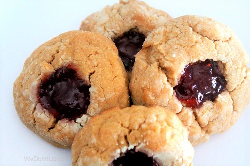 pb and j thumb print cookies