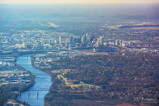Aerial View of Music City - Nashville, Tennessee