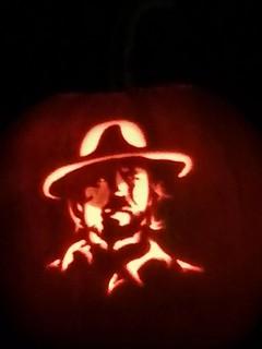 Clint Eastwood pumpkin.
