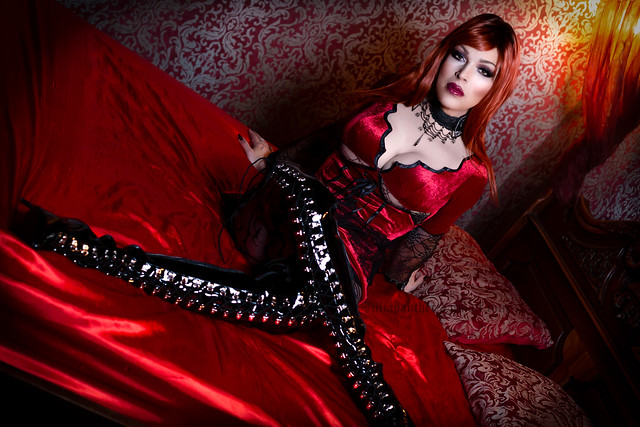 Red vampire in boots
