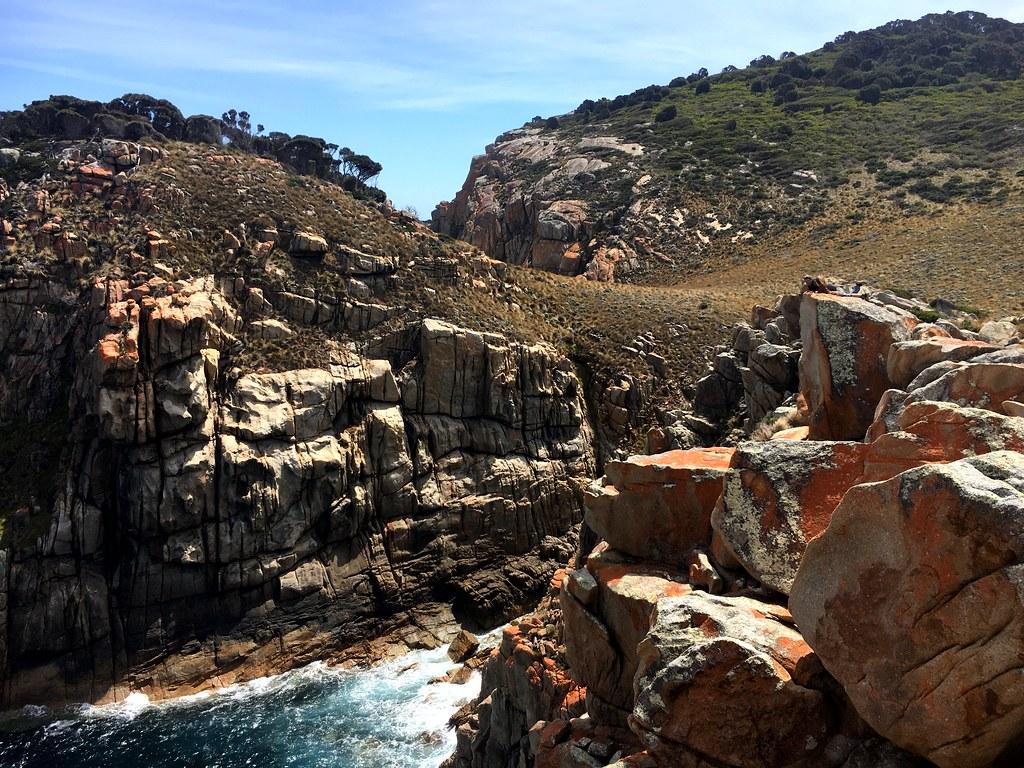 Cliffs near Wallabi Cove. Erith Island.
