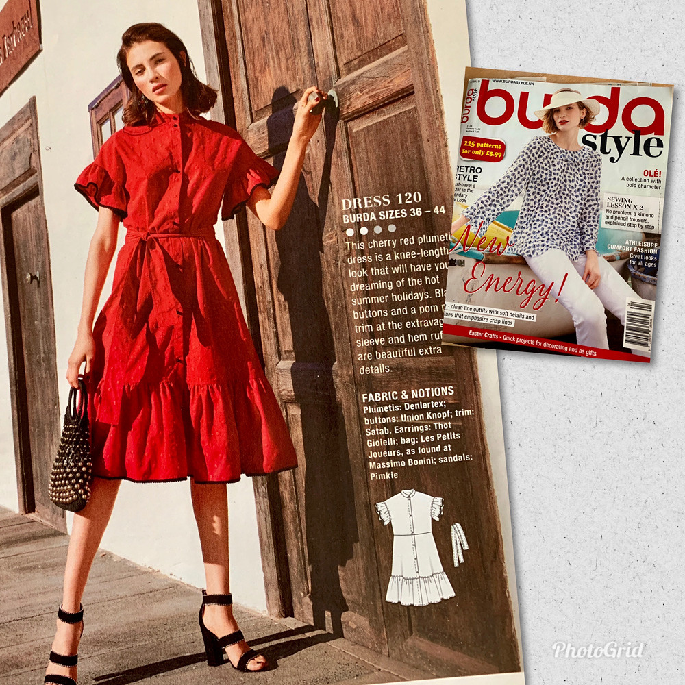 3_Cotton poplin Minerva dress Burda mag