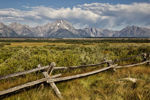 Grand Teton view from the Cunningham Cabin. Wyoming