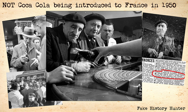 NOT Coca-Cola being introduced to France in 1950