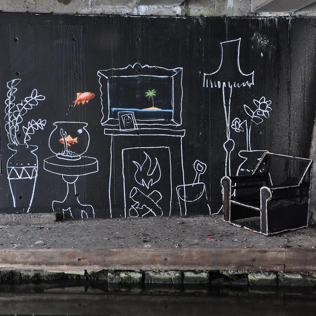 Banksy, Regents Canal, 2011
